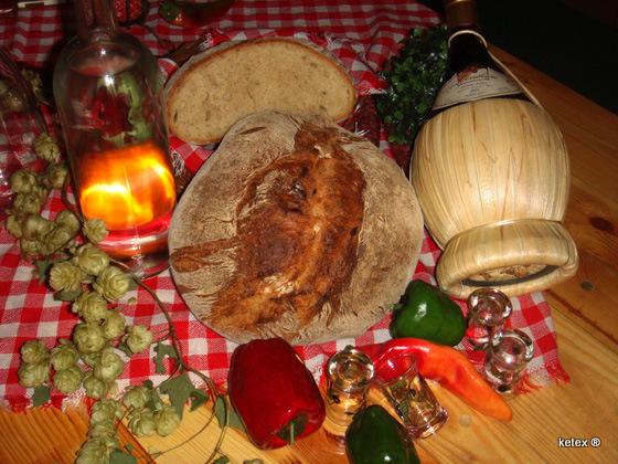 Brot mit ofengerösteten Kartoffeln nach J. Hamelman
