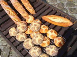 Baguette mit Bohnenmehl