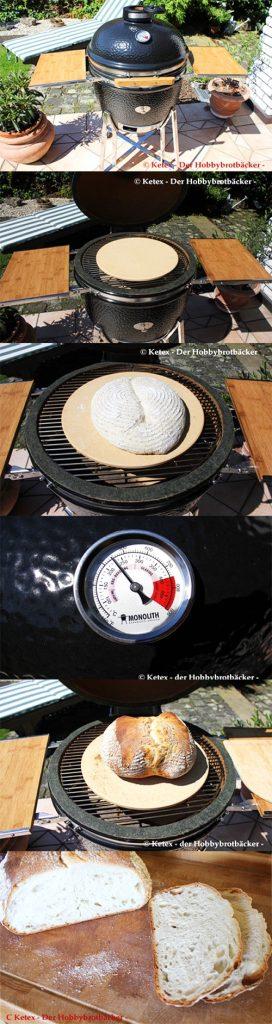 Keramikgrill Brot backen