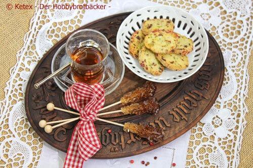 Pistazien-Rote Pfefferbeeren-Kekse