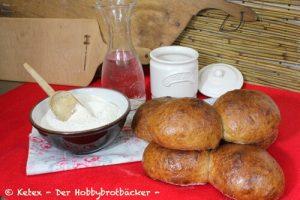 Schweizer Bürli mit original Schweizer Ruchmehl (Mischung 1200)