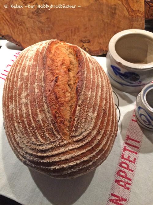 Doppelback als frei geschobenes Brot gebacken!